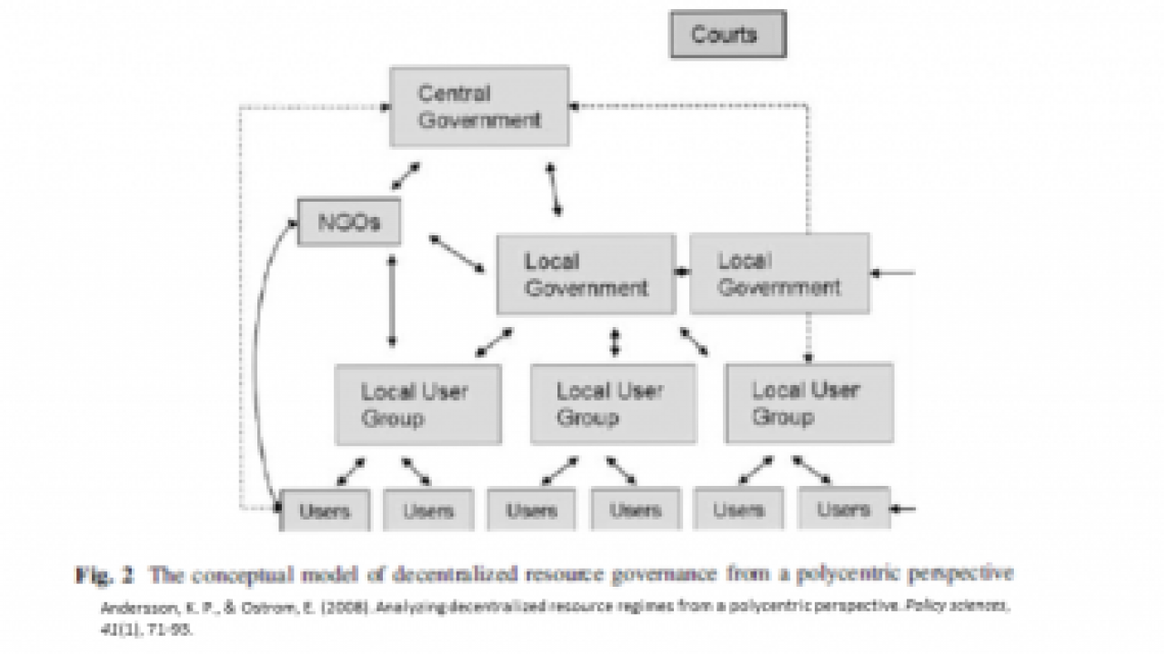 conceptual model of decentralized resource governance